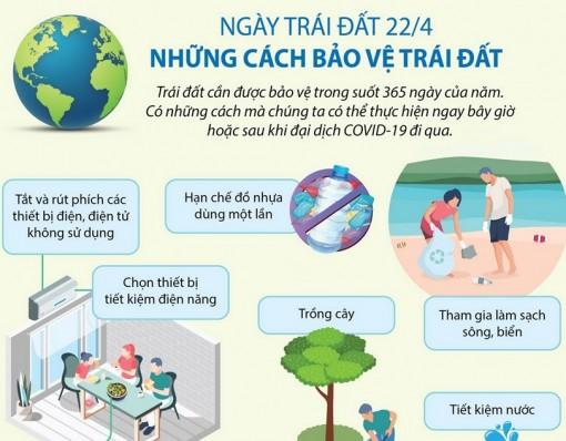 Nhân Ngày Trái đất 22-4: Những cách bảo vệ Trái đất