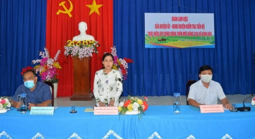 Kiểm tra tiến độ xây dựng nông thôn mới nâng cao xã Bình Hòa