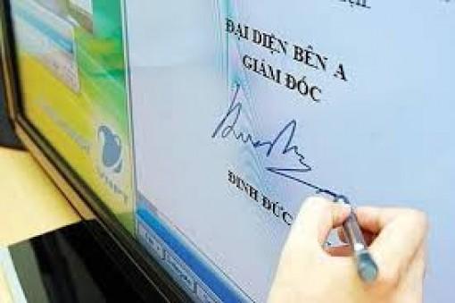 Triển khai chữ ký số phục vụ gửi nhận văn bản điện tử
