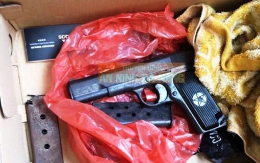 Bắt tên trộm, thu giữ khẩu súng K54 và 2 hộp tiếp đạn