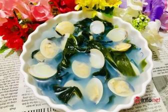 Canh rong biển nấu ngao ngon ngọt, không tanh đúng vị Hàn Quốc