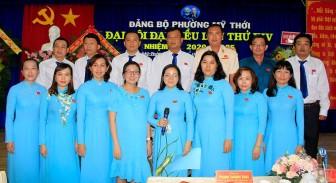 Đồng chí Lý Thùy Giang tái đắc cử Bí thư Đảng bộ phường Mỹ Thới khóa XIV (nhiệm kỳ 2020-2025)