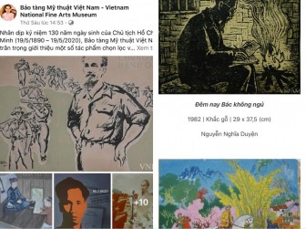 Giới thiệu trực tuyến các tác phẩm mỹ thuật về Bác Hồ