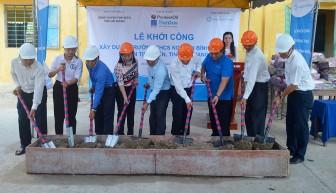Tịnh Biên: Khởi công xây dựng 3 phòng học cho Trường THCS Nguyễn Bỉnh Khiêm