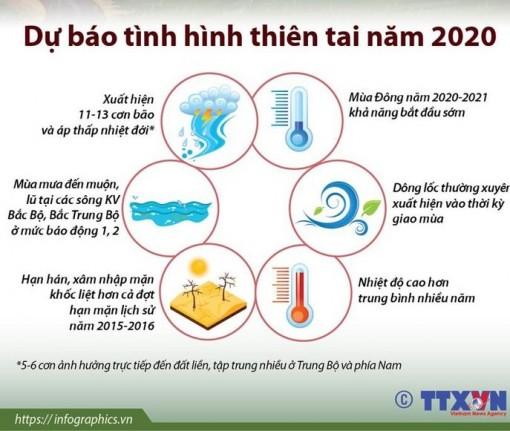 Dự báo tình hình thiên tai tại Việt Nam năm 2020