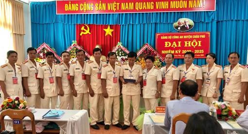 Đại hội Đảng bộ Công an huyện Châu Phú nhiệm kỳ 2020 - 2025 diễn ra thành công