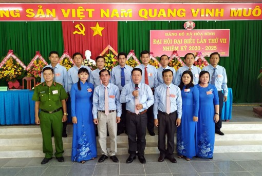 Đồng chí Đặng Thanh Bình tái đắc cử Bí thư Đảng ủy xã Hòa Bình (nhiệm kỳ 2020-2025)