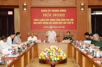 Quân ủy Trung ương cho ý kiến về dự thảo Văn kiện Đại hội đại biểu Đảng bộ Quân đội lần thứ XI
