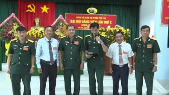 Đại hội đảng viên Đảng bộ Ban Chỉ huy quân sự huyện Phú Tân lần thứ X (nhiệm kỳ 2020-2025)