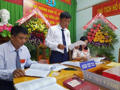 Đồng chí Phạm Văn Dương tái đắc cử Bí thư Chi bộ Phòng Kinh tế-Hạ tầng huyện Chợ Mới
