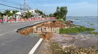 UBND tỉnh An Giang ra quyết định về tình huống khẩn cấp nguy cơ sạt lở nghiêm trọng QL.91, với chiều dài 2.000 mét