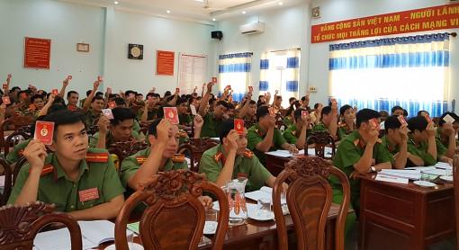 Đại tá Nguyễn Trường Viễn tái đắc cử Bí thư Đảng ủy Công an huyện Tri Tôn (nhiệm kỳ 2020-2025)