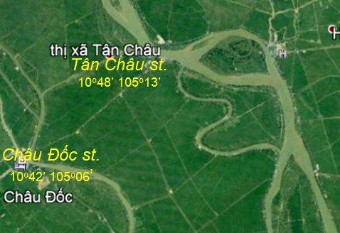 Dòng chảy ngược tại Châu Đốc, Tân Châu và Vàm Nao