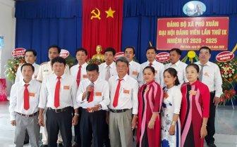 Phú Xuân tổ chức thành công Đại hội Đảng bộ xã lần thứ IX (nhiệm kỳ 2020-2025)