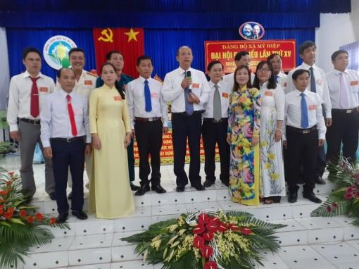 Đồng chí Nguyễn Trường Sơn tái đắc cử Bí thư Đảng ủy xã Mỹ Hiệp (nhiệm kỳ 2020-2025)