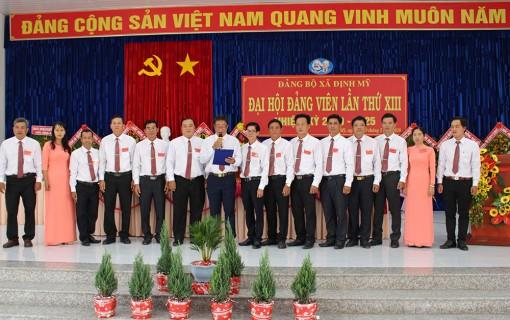Kết thúc Đại hội đảng viên Đảng bộ xã Định Mỹ lần thứ XIII (nhiệm kỳ 2020-2025)