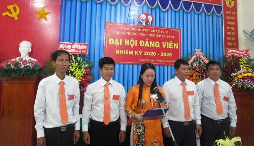 Đại hội Chi bộ Phòng Nông nghiệp và Phát triển nông thôn huyện Châu Phú (nhiệm kỳ 2020-2025)