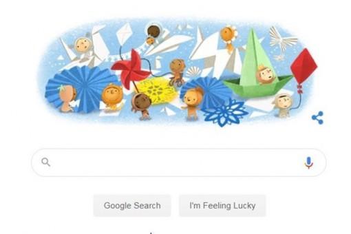 Google Doodle chúc mừng Ngày Quốc tế Thiếu nhi
