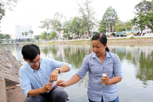 Nhanh chóng cải tạo hệ thống cống trao đổi nước trong hồ Nguyễn Du