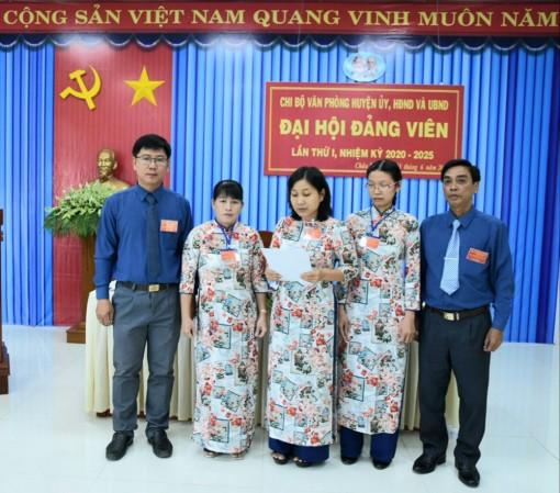 Đại hội Chi bộ Văn phòng Huyện ủy, HĐND và UBND huyện Châu Phú (nhiệm kỳ 2020-2025)