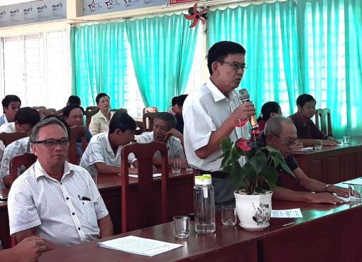 Đại biểu HĐND 3 cấp tiếp xúc cử tri xã Vĩnh Thạnh Trung và Thạnh Mỹ Tây