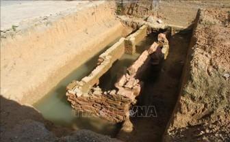 Ninh Bình phát hiện kiến trúc mộ gạch tại sân trường tiểu học