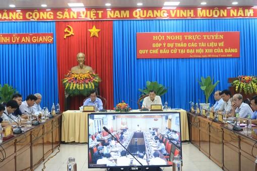 Góp ý dự thảo các tài liệu về quy chế bầu cử tại Đại hội XIII của Đảng