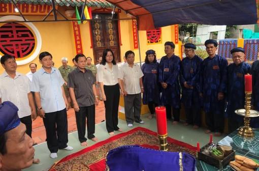 Tổ chức lễ Kỳ yên (Hạ điền) Đình thần Bình Đức