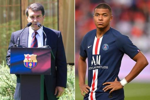 Laporta biến Mbappe thành Ronaldinho mới của Barca