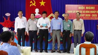 Thành lập Hợp tác xã nông nghiệp Vĩnh Khánh