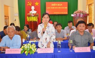 """Lãnh đạo huyện Châu Thành """"Lắng nghe dân nói"""" tại xã Hòa Bình Thạnh"""