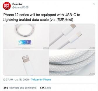 Rò rỉ hình ảnh cáp sạc mới của iPhone 12