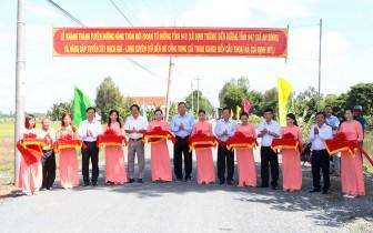 Thông xe tuyến đường nông thôn mới (ĐT943 – ĐT947) và tuyến đường Tây Rạch Giá – Long Xuyên (Thoại Giang – Định Mỹ)