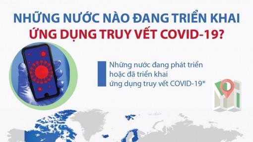 Nước nào đang triển khai ứng dụng truy vết COVID-19?