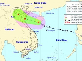 Bão giật cấp 10 hướng vào Bắc Trung Bộ và nam đồng bằng Bắc Bộ