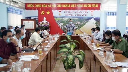 UBND huyện Chợ Mới họp chỉ đạo phòng, chống dịch COVID-19