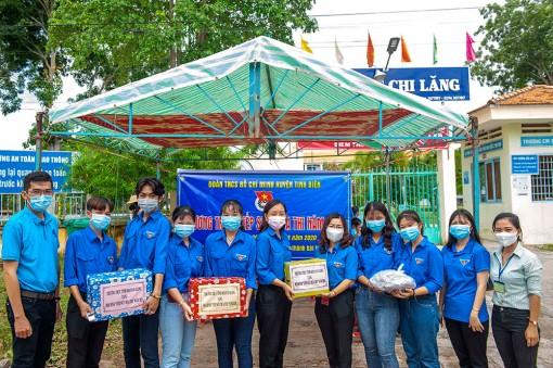 Kiểm tra công tác tổ chức Chương trình tiếp sức mùa thi 2020 tại Tri Tôn, Tịnh Biên