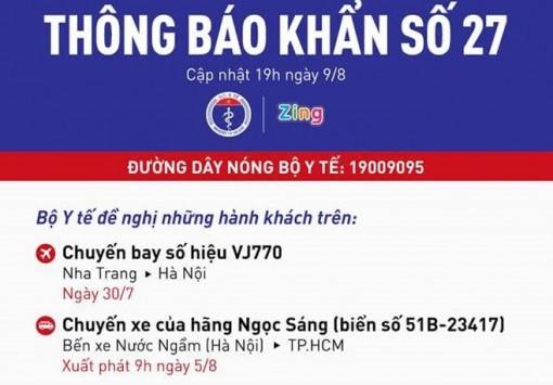 Thông báo khẩn tìm người trên chuyến bay VJ770 Nha Trang - Hà Nội