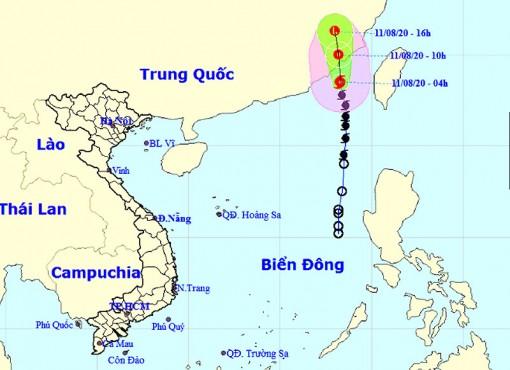 Bão vào Trung Quốc và suy yếu thành áp thấp nhiệt đới