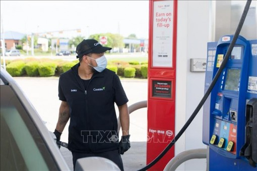 Giá dầu Brent tăng nhẹ lên 45,28 USD/thùng
