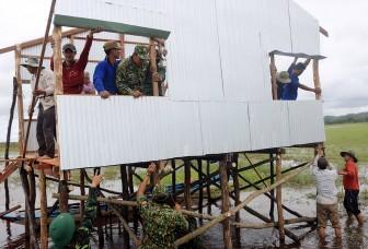 Xây dựng chốt vượt lũ mẫu trên tuyến biên giới An Giang