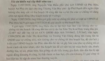 Trả lời khiếu nại của vợ chồng ông Hồ Văn Diều