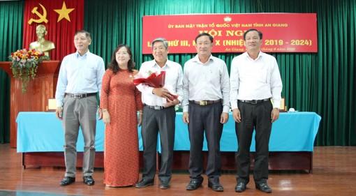 Ông Phan Trương, nguyên Chánh Văn phòng Đoàn đại biểu Quốc hội tỉnh giữ chức Phó Chủ tịch UBMTTQVN tỉnh (khóa X)