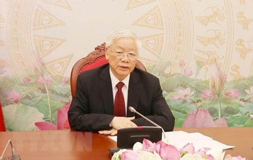 Tổng Bí thư, Chủ tịch nước điện đàm với Tổng Bí thư, Chủ tịch nước Lào