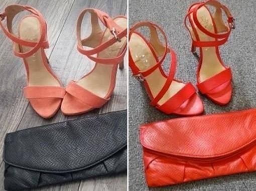 Cô gái tạo ra một đôi giày mới bằng cách quét sơn lên giày cũ