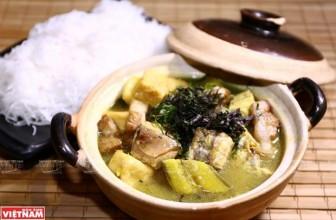 Cá lăng om chuối đậu vô cùng hấp dẫn với vị đậm đà, mềm ngọt