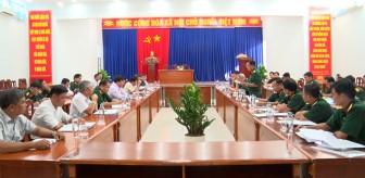 Bộ Chỉ huy Quân sự tỉnh thanh tra công tác quốc phòng tại huyện Phú Tân