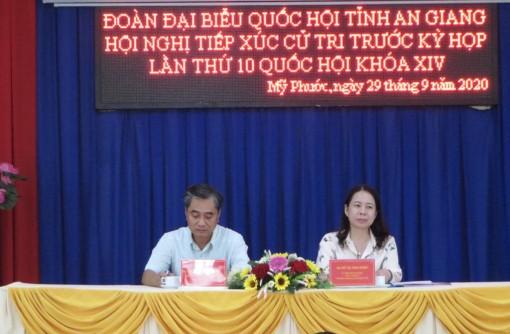 Bí thư Tỉnh ủy Võ Thị Ánh Xuân tiếp xúc cử tri trước kỳ họp lần thứ 10, Quốc hội khóa XIV