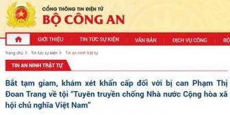 Bắt tạm giam đối tượng tuyên truyền chống Nhà nước Việt Nam