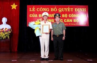 Thượng tá Nguyễn Nhật Trường được bổ nhiệm giữ chức vụ Phó Giám đốc Công an tỉnh An Giang